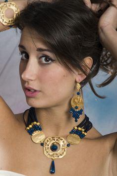 Collana etrusca oro quadro