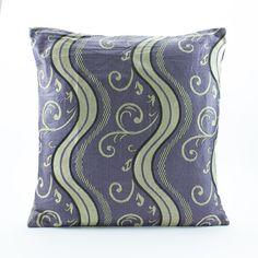 Silk Jacquard pillow cover 18x18, Magic Purple Gold Decorative throw, Gold Accent