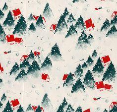 vintage Christmas wrap