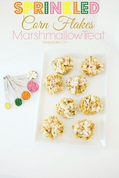 Sprinkled Marshmallow Treat - perfect spring time and Easter recipe | KristenDuke.com