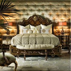 Shop the Aria Standard Bed at Perigold, home to the design world's best furnishings for every style and space. Plus, enjoy free delivery on most items. Hooker Furniture, Luxury Furniture, Bedroom Furniture, Yard Furniture, Bedroom Decor, Gothic Furniture, Bedding Decor, Italian Furniture, Furniture Vintage