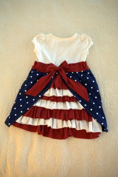 Red, white, and blue bustle dress my little girl, my baby girl, Little Girl Dresses, Girls Dresses, Pageant Dresses, Party Dresses, Kids Outfits, Cute Outfits, Summer Outfits, Diy Vetement, Bustle Dress