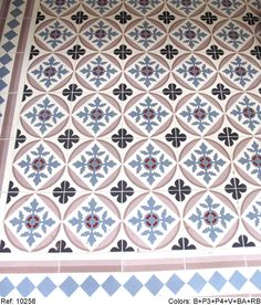 Modern and traditional encaustic cement tiles factory Tile Patterns, Tile Inspiration, Tiles, House Tiles, Beautiful Tile Floor, Beautiful Tile, Home Deco, Mosaic, Blue Tiles