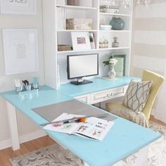 Home Office Makeover Reveal {Home Office} Would this work in your bedroom?