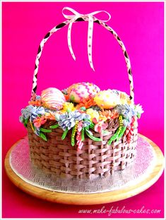 An Easter Basket cake... yum!