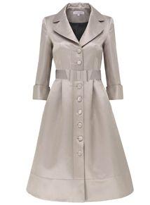 Couture Fifties Dress Coat Midi