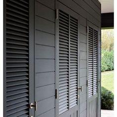 #interior #interiordesign #interiordetails #outdoor #outdiorliving #exterior #greyfinish #beautiful #doors #shutters #poolhouse #fantastic #details #design
