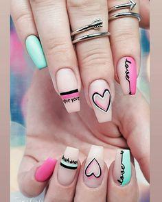 Top 100 Acrylic Nail Designs of May Web Page Long White Acrylic Nails Design. Top 100 Acrylic Nail Designs of May Web Page Long Wh Valentine's Day Nail Designs, Acrylic Nail Designs, Art Designs, Summer Acrylic Nails, Best Acrylic Nails, Cute Nails, My Nails, Work Nails, Pop Art Nails