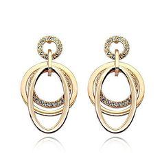 YE057 Round 18K Rose Gold Plated Stud Earrings by BlueroseFashion, €9.50