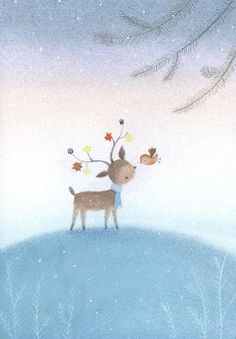 Leading Illustration & Publishing Agency based in London, New York & Marbella. Cute Animal Illustration, Fantasy Illustration, Christmas Illustration, Illustration Sketches, Woodland Illustration, Christmas Drawing, Christmas Art, Raindeer Drawing, Sweet Drawings