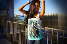 Kiowa Blossom Teal Blend Tank, OxDx clothing