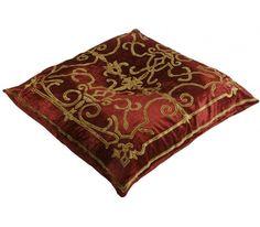 Isobel Terracotta Velvet Floor Cushion
