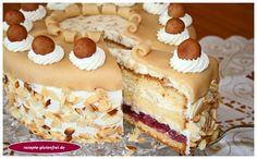 Kirsch - Mandel - Marzipantorte - Tanja`s glutenfreies Kochbuch Chocolate Cookie Recipes, Easy Cookie Recipes, Chocolate Chip Cookies, Cake Recipes, Dessert Recipes, Marzipan Cake, Easy Vanilla Cake Recipe, Cookies And Cream Cake, Bon Dessert