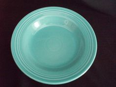 Fiestaware flanged soup bowl turquoise VTG Fiesta FREE SHIP  $22 OBO