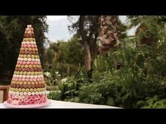 Macaron Tower Wedding Cake at Eden Project by Nicky Grant - YouTube