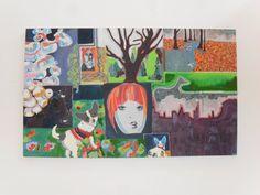 Imaginarium by AeysheaJones on Etsy, $554.15 beautiful one off large scale painting