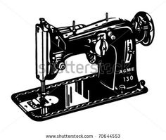 stock vector : Sewing Machine - Retro Ad Art Banner