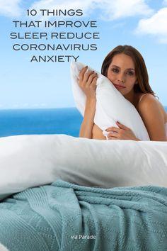Reduces those anxieties with a good night's sleep! via Parade Magazine