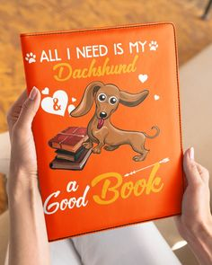 All I Need Is My Dachshund Dog A Good Book Mugs - Burnt Orange miniature dachshund, dachshund drawing, for dachshund lovers #puppies #petsmart #petco, dried orange slices, yule decorations, scandinavian christmas Dachshund Quotes, Funny Dachshund, Cat Quotes, Animal Quotes, Dachshund Drawing, Wire Haired Dachshund, Funny Costumes, Funny Outfits, Yule Decorations