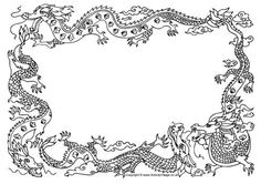 Free dragon border in GIF, JPG, PDF, and PNG formats
