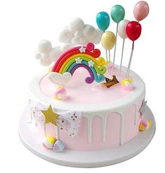 Birthday Cakes Girls Kids, Cupcake Birthday Cake, Baby Birthday Cakes, Foto Pastel, Cloud Cake, Balloon Cake, Unicorn Cake Topper, Partys, Girl Cakes