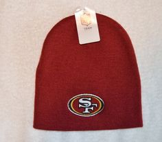 San Francisco SF 49ers Maroon Skull Cap - NFL Cuffless Beanie Knit Hat by NFL. $12.64