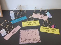 Making 3-D shapes from chickpeas and cocktail sticks