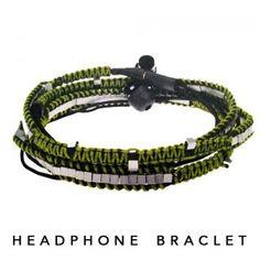 Audiopark Sound Bracelet - Headphones Ipod, Desert Fashion, Samsung, Headphones, Bracelets, Jewelry, Style, Slipcovers, Speakers