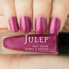 Julep's Mari is a Peony linear liquid holographic nail color, and a little darker than pictured.  Like their other polishes, it's  5-free, meaning it's got none of the bad stuff!