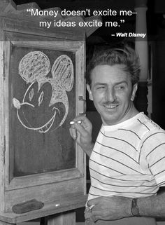 Walt Disney founded Disney Entertainment. A... new form of media. They started off with a 7 minute film of Mickey on a boat whistling. Walt Disney started off poor and made what now would be billions of dollars. His ideas and creation now fondles the minds on millions of children. He not only led to Disney land (pretty bad-***) but some of our classic movies now days.