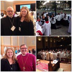 #EDOLA15 #Episcopal collage. Me w/ Rev'd Ron Clingenpeel and me w/ Bp Thompson