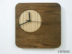 Wooden Simply Square Wood Wall Clock