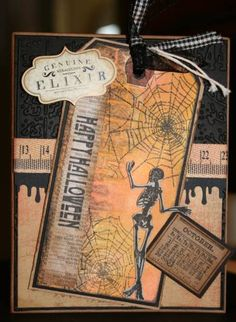 No one should be surprised that I love this, because I love Tim Holtz anything and EVERYTHING!  I think I must do this one for the invitations...