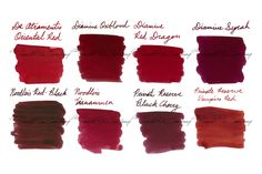 2ml samples of 8 of our most popular dark red fountain pen ink colors. Includes: De Atramentis Oriental Red, Diamine Oxblood, Diamine Red Dragon, Diamine Syrah, Noodler's Red-Black, Noodler's Tiananmen, Private Reserve Black Cherry, and Private Reserve Vampire Red.