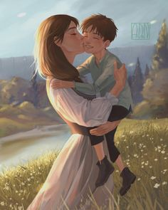 Aidan K. — Eren with his mom ❤️ Please visit my other pages. Mikasa, Attack On Titan Fanart, Attack On Titan Eren, Fanarts Anime, Manga Anime, Anime Art, Levi X Eren, Armin, Levi Ackerman