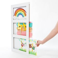 This brilliant and best-selling triple A4 Articulate Gallery picture frame hosts a visual treat of children's art - an inspiring exhibition in an instant. £24.00
