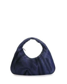 Bottega Veneta Veneta Large Hobo Bag, Royal Blue