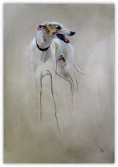 """""""Freud's Friend"""", oil on canvas, 70×100cm, by Dede Gold"""
