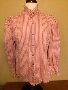 Frontier Classics women's blouse striped cosplay west Large #FrontierClassics #TopsShirts