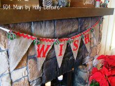 #fabulouslyfestive Reversible holiday banner by @Holly Lefevre (504 Main)