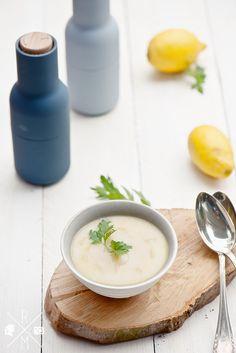 Spargelsuppe mit Fitzelchen von Zitrone