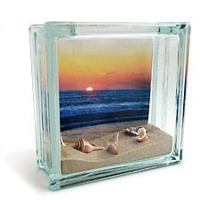 Remember your summer with a photo combined with mementos you have collected and arranged in a craft glass block. To get started print your photo at a KODAK Picture Kiosk near you.
