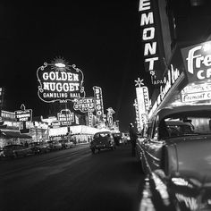 Las Vegas, 1957 Fremont Street set features photographs of gambling halls along fremont street, also several photographs of a san francisco cable car (no. part of an archival project, featuring the photographs of nick dewolf Vegas Casino, Las Vegas Nevada, Cities, Fremont Street, Photo Archive, Around The Worlds, Vacation, Black And White, Places