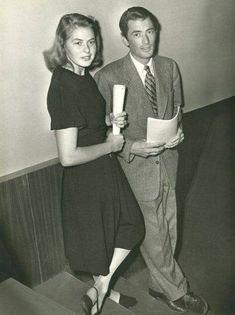 Ingrid Bergman and Gregory Peck