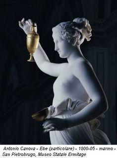Antonio Canova - Ebe (particolare) - 1800-05 - marmo - San Pietrobrugo, Museo Statale Ermitage