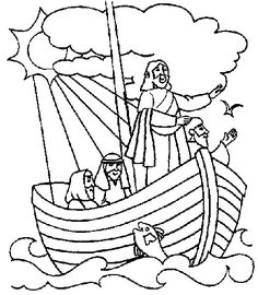 jesus calms the storm coloring page | Children Crafts and Games ...