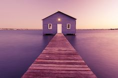 The purple boat shed, Western Australia (Jerome B Photography) Boat Shed, Pack Up And Go, Purple Rooms, Perth Western Australia, Cosy Corner, Land Of Oz, Holiday Places, Great Places, Amazing Places