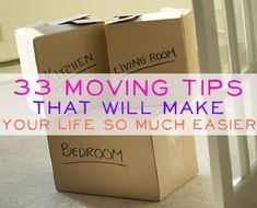 33 Great Moving Tips