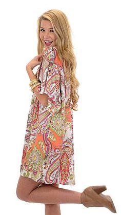 Paisley Caftan Dress