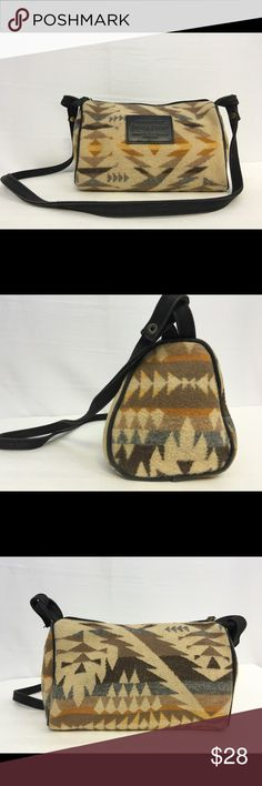Pendleton Aztech Geo-Metric Pattern Shoulder Purse Preowned, Pendleton Aztech Geo-Metric Pattern Shoulder Purse.  In overall good condition with a little fray on strap as shown on last pic. Pendleton Bags